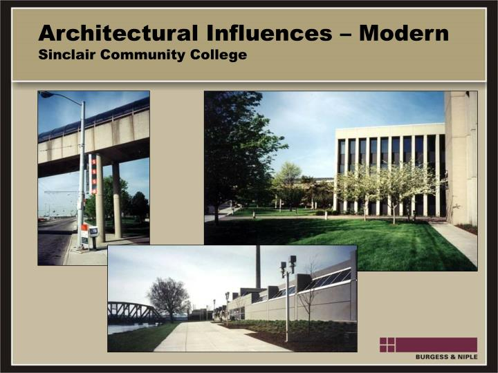 Architectural Influences – Modern