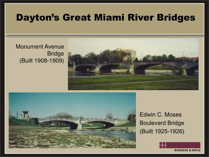 Dayton's Great Miami River Bridges