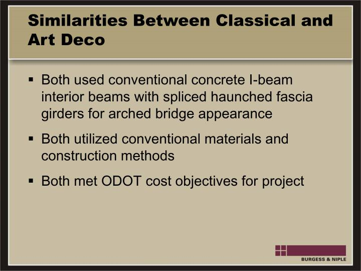 Similarities Between Classical and Art Deco