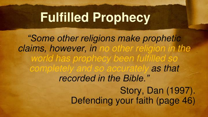 Fulfilled Prophecy