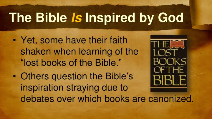 The bible is inspired by god