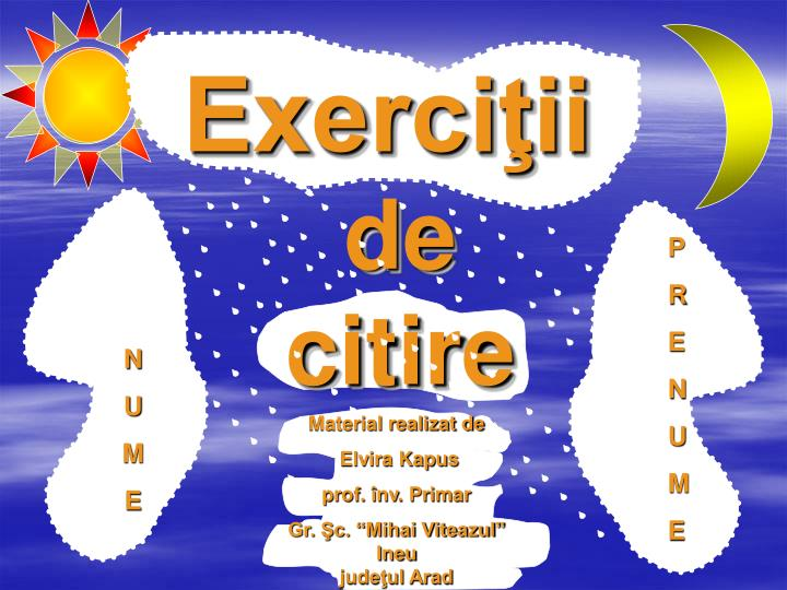 Exerci ii de citire