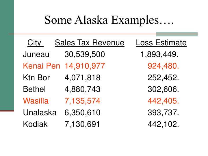 Some Alaska Examples….