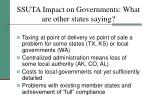 ssuta impact on governments what are other states saying
