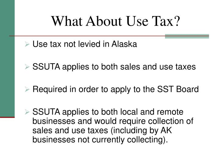 What About Use Tax?