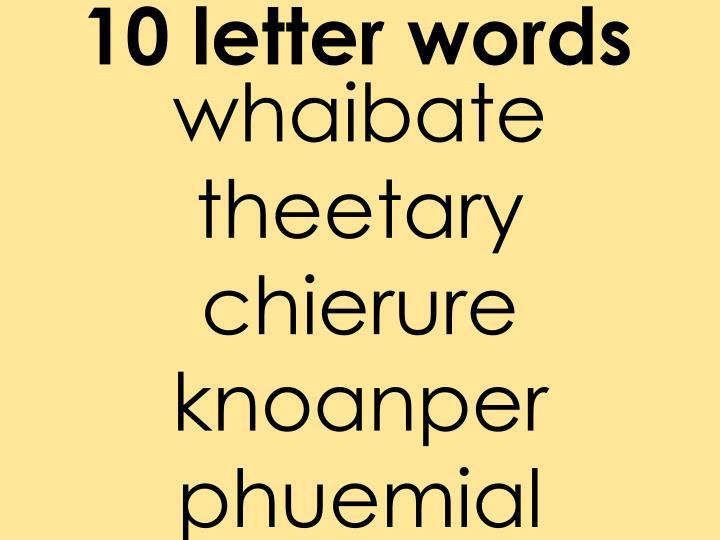 10 letter words