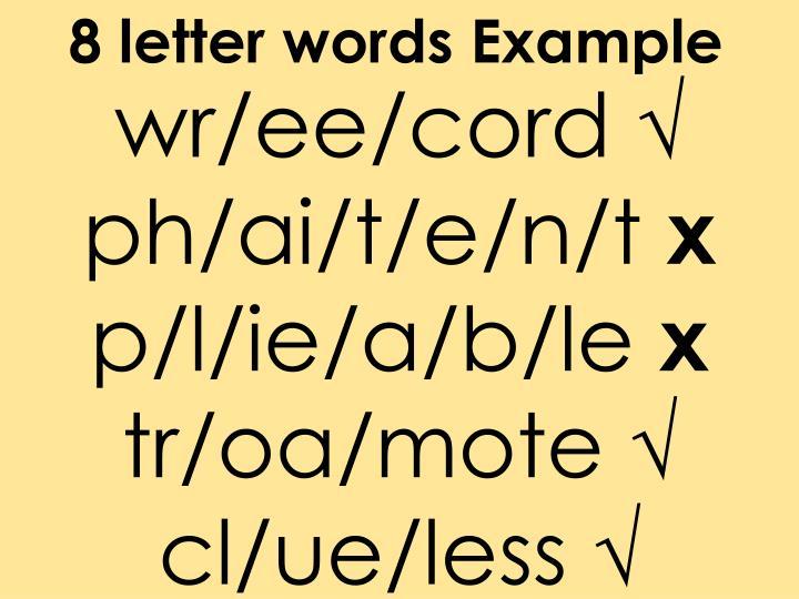 8 letter