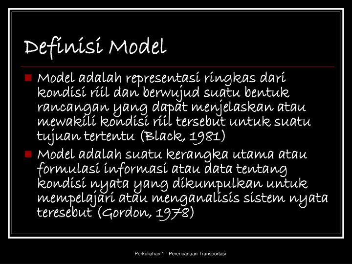 Definisi Model