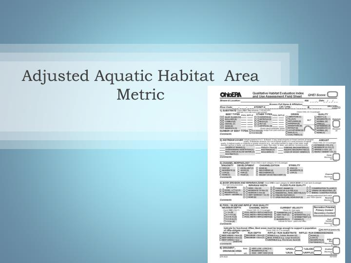 Adjusted Aquatic Habitat  Area Metric