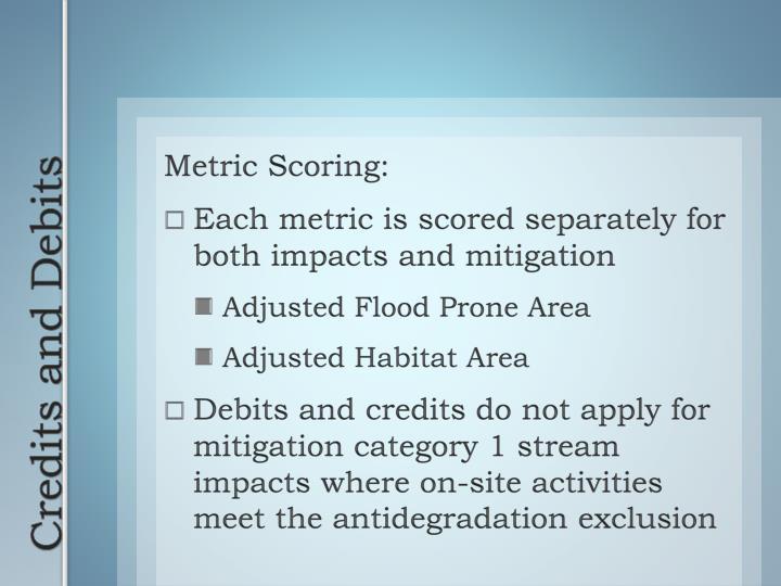 Metric Scoring: