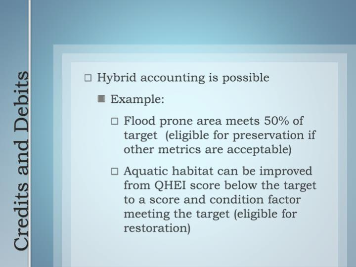 Hybrid accounting is possible