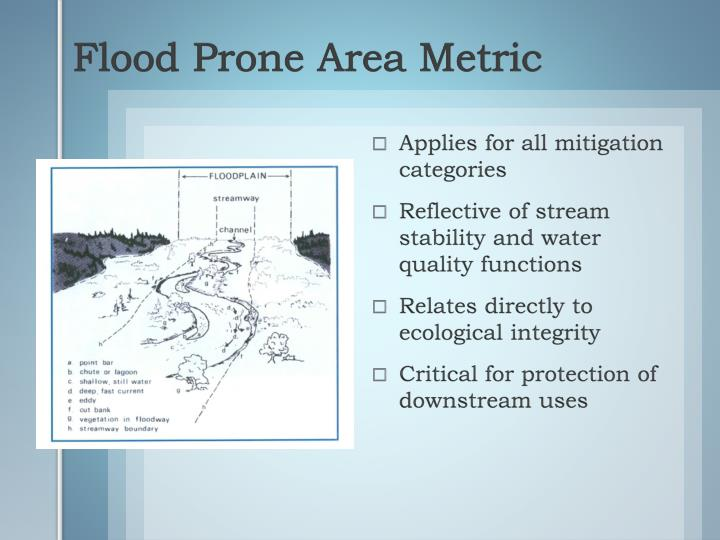 Flood Prone Area Metric