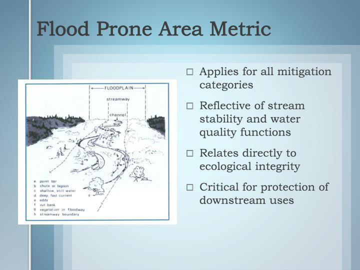 Flood Prone Area Metric