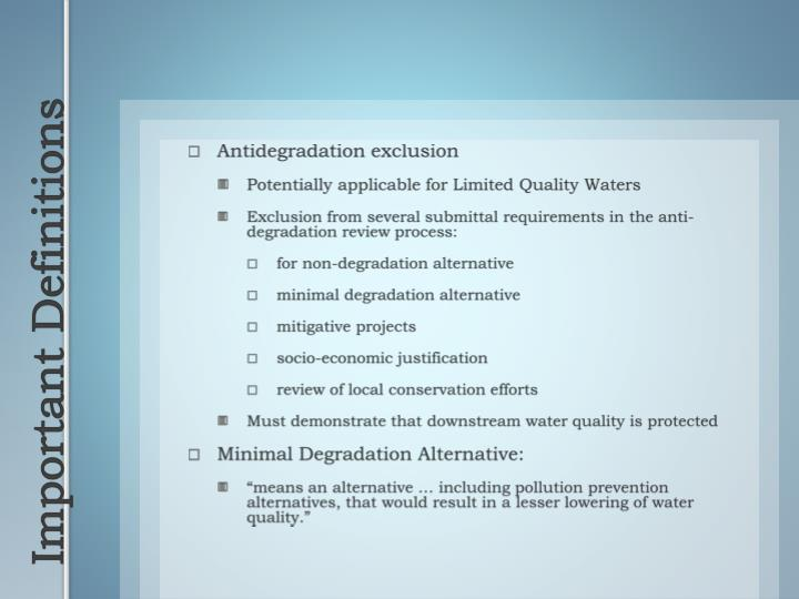 Antidegradation