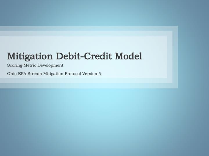 Mitigation Debit-Credit Model