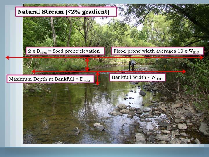 Natural Stream (<2% gradient)