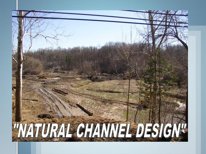 """NATURAL CHANNEL DESIGN"""