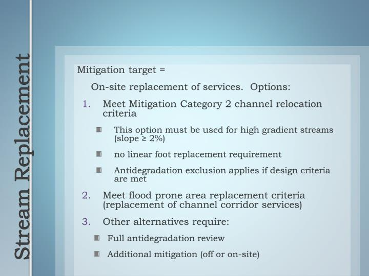 Mitigation target =