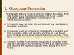 1 occupant protection