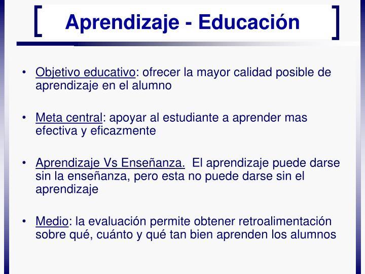 Objetivo educativo