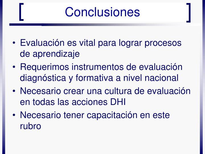 Evaluación es vital para lograr procesos de aprendizaje