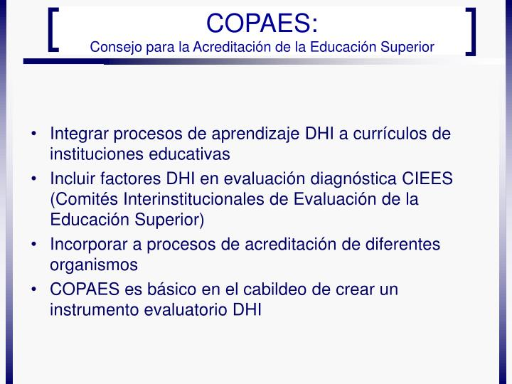 Integrar procesos de aprendizaje DHI a currículos de instituciones educativas
