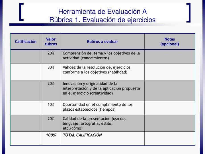 Herramienta de Evaluación A