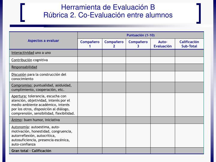 Herramienta de Evaluación B