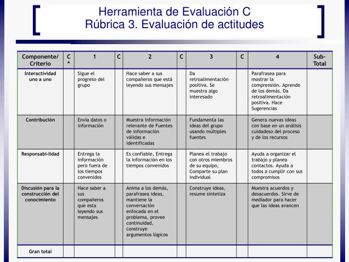 Herramienta de Evaluación C