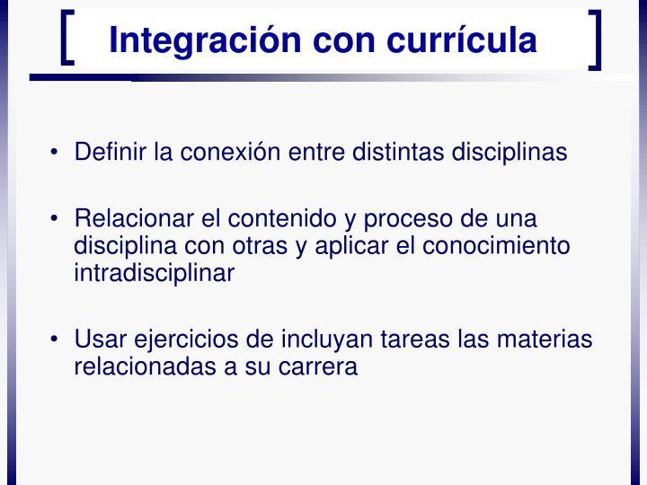 Definir la conexión entre distintas disciplinas