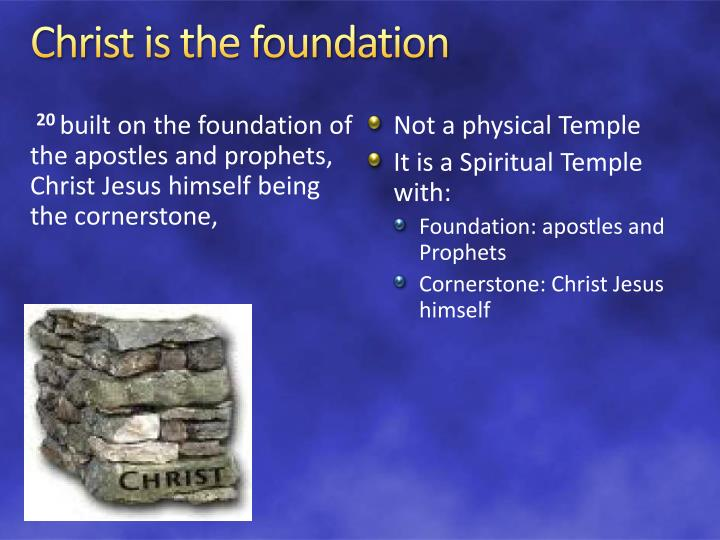 Christ is the foundation
