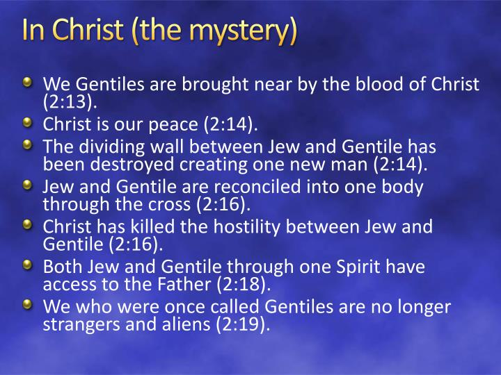 In Christ (the mystery)
