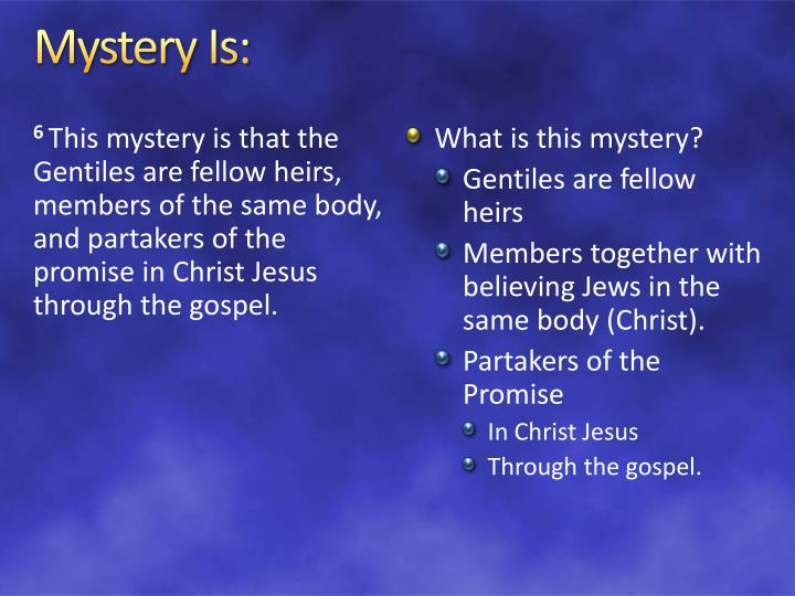 Mystery Is: