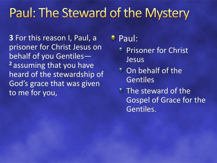 Paul: The Steward of the Mystery