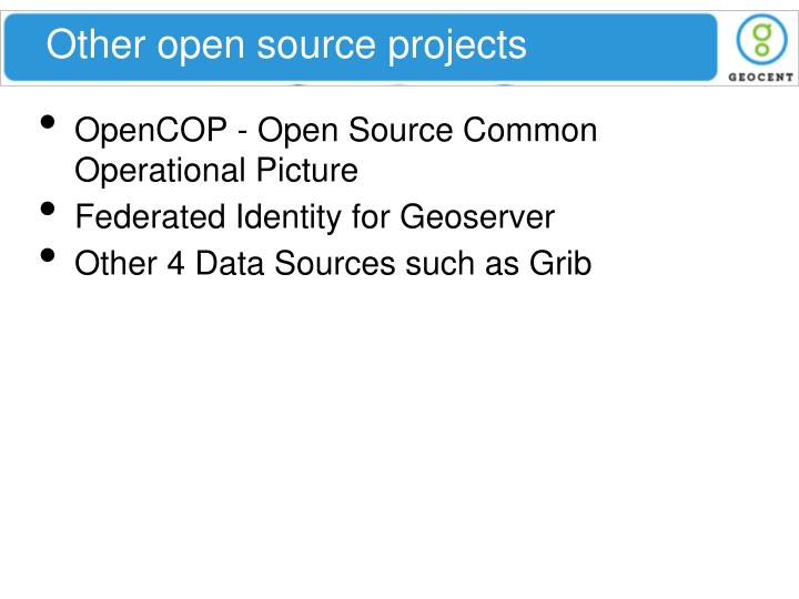 Other open source projects