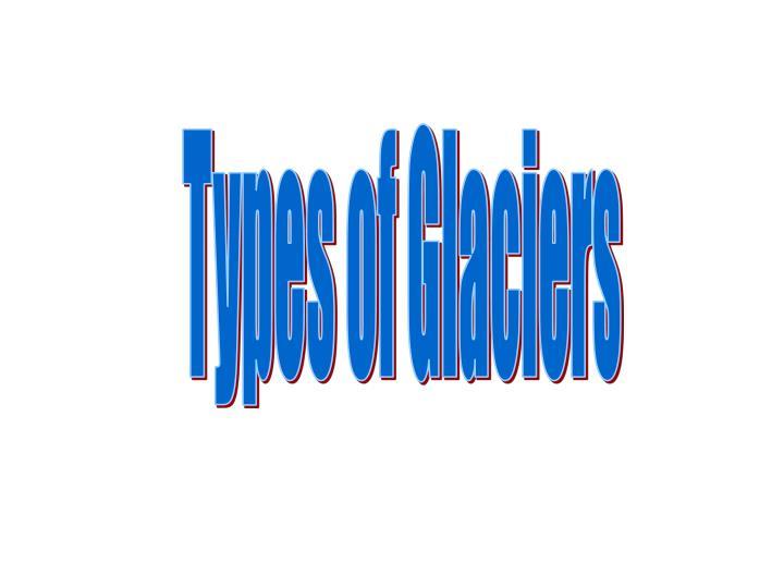 Types of Glaciers