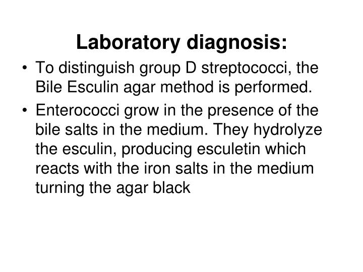 Laboratory diagnosis: