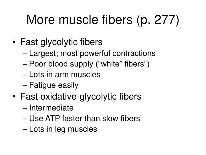 More muscle fibers (p. 277)