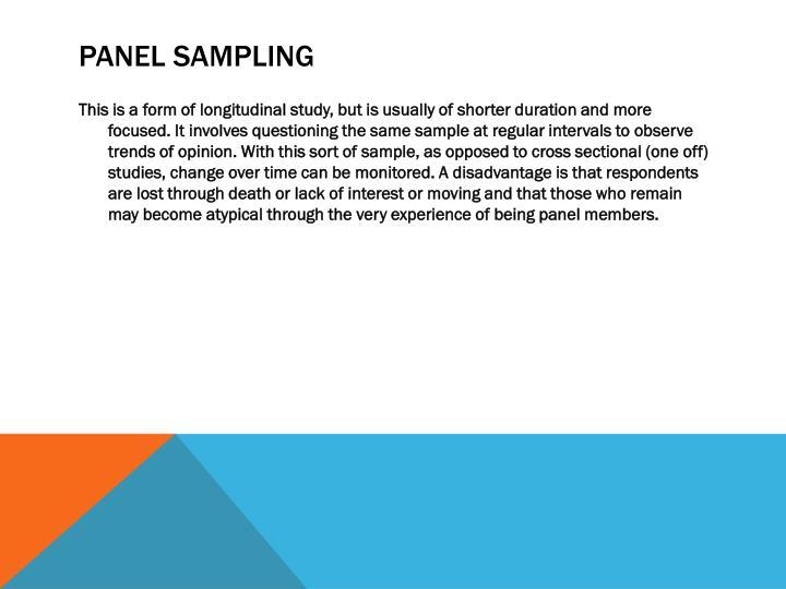 Panel Sampling