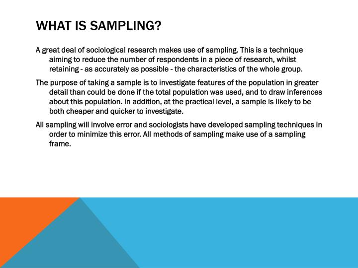 What is Sampling?