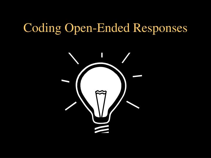 Coding Open-Ended Responses