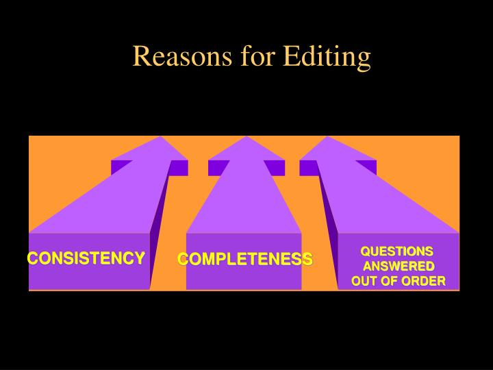Reasons for Editing