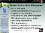 resource information management