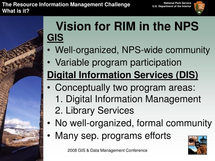 The Resource Information Management Challenge