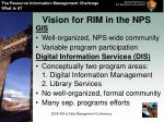 vision for rim in the nps