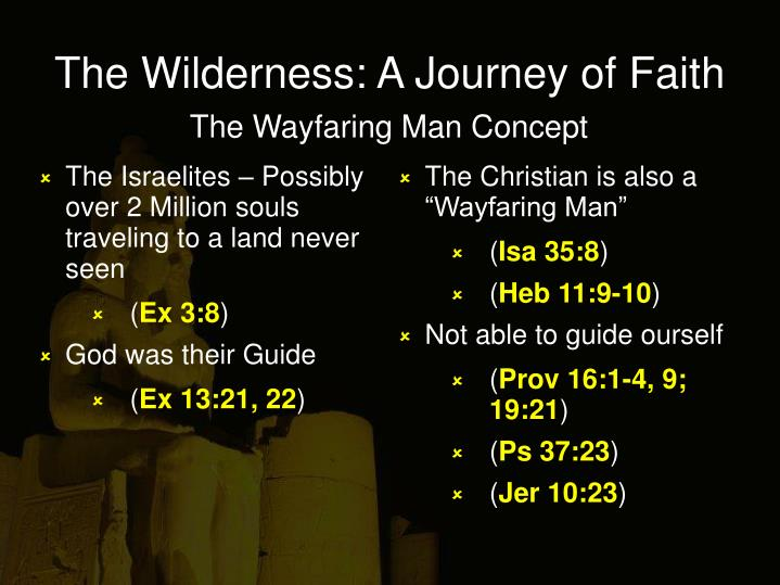 The wilderness a journey of faith