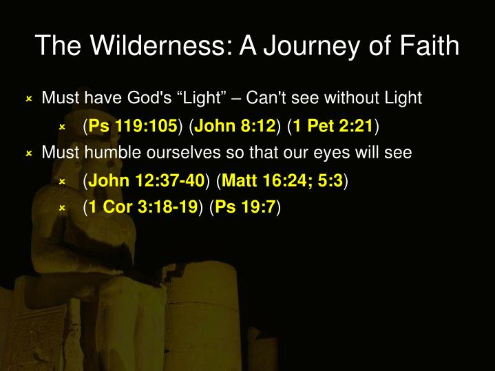 The wilderness a journey of faith1