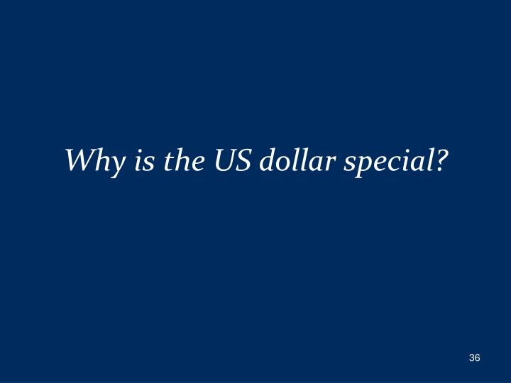 Why is the US dollar special?