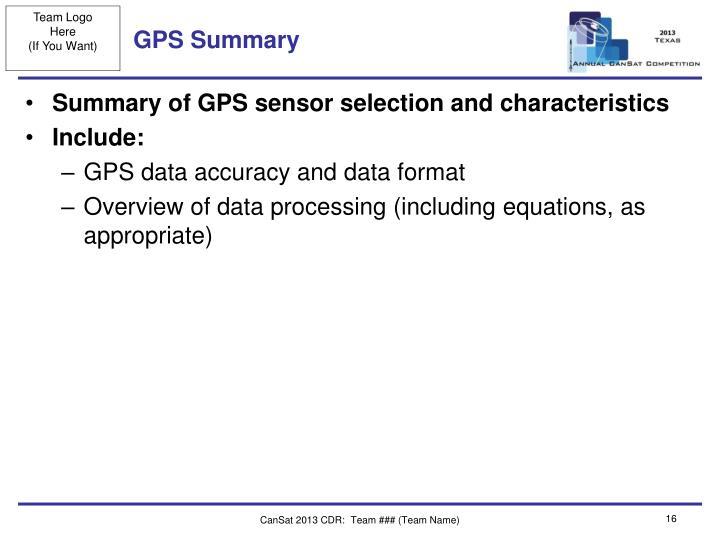 GPS Summary