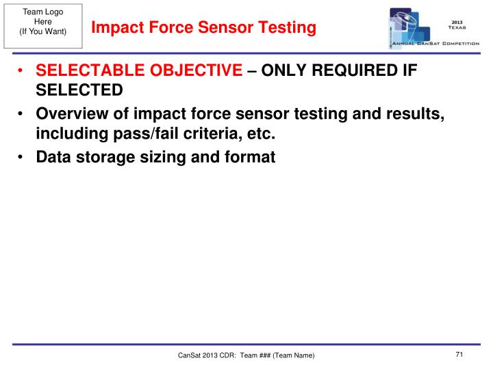 Impact Force Sensor Testing